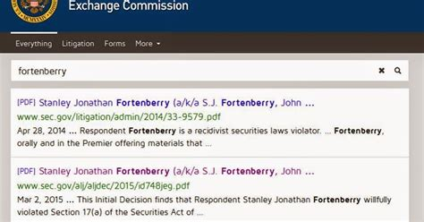 section 10b of the securities exchange act of 1934 state of the division sec gives fortenberry 900 000