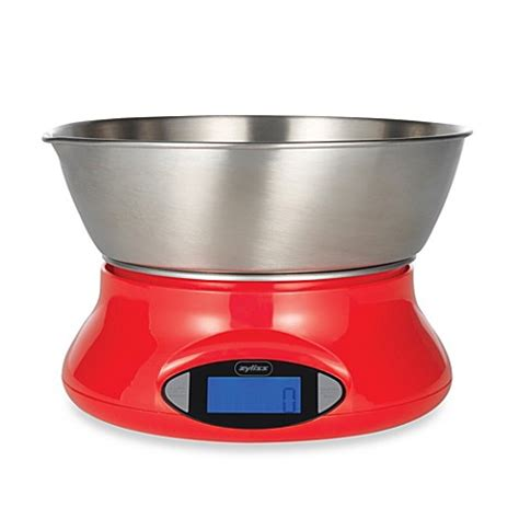 food scale bed bath and beyond zyliss 174 electronic kitchen food scale in red bed bath