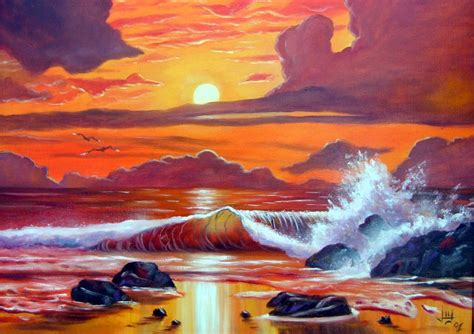 painting images 21 beautiful sunset paintings free premium templates