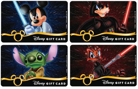 Star Wars Gift Cards - new disney gift cards fly in this summer planes star wars princess designs have arrived