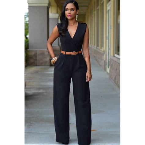 Baju Jumpsuit Levis Panjang baju baju jumpsuit wanita rompers v neck size l black