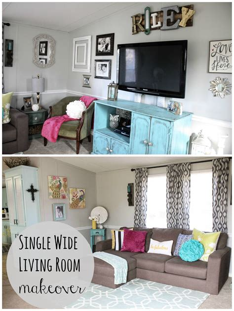 room redo mobile home living room reveal single wide cow and
