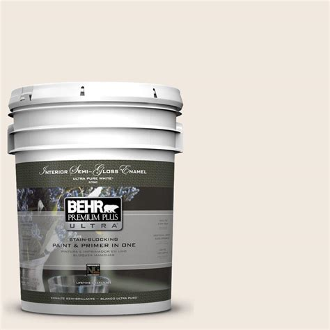 home depot 5 gallon interior paint behr premium plus ultra 5 gal ul150 9 pillar white semi