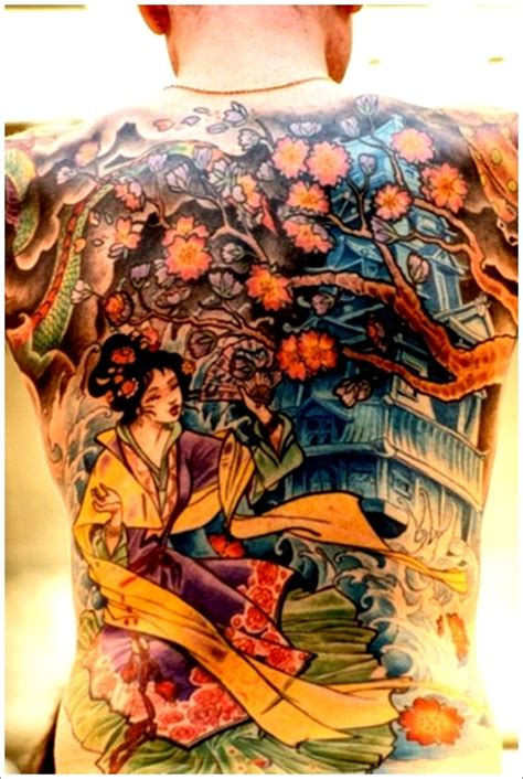 tattoo geisha full back full back geisha tattoo design for men geisha tattoo