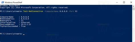 test network port test remote network port connection in windows 10