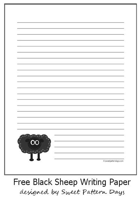 black writing paper black sheep printable writing paper stationery
