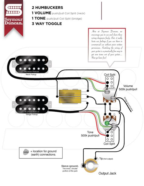 guitar wiring diagram 2 humbucker 1 volume 1 tone wiring