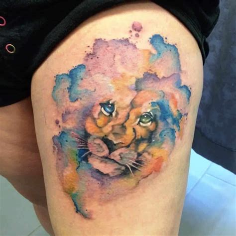 watercolor tattoo lion 101 lioness ideas designs authoritytattoo