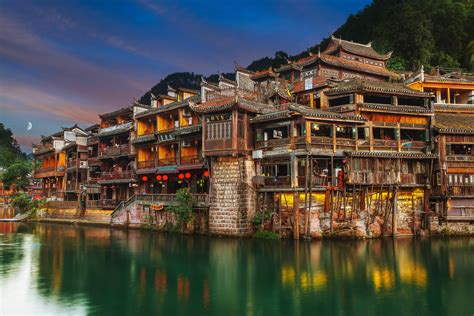Image China an evening in fenghuang ancient town fenghuang a flickr