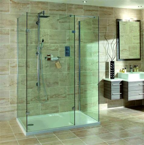 Showers Without Glass Doors Walk In Showers Without Doors Home Design And Decor