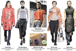 Menswear gets in touch with feminine side wsj