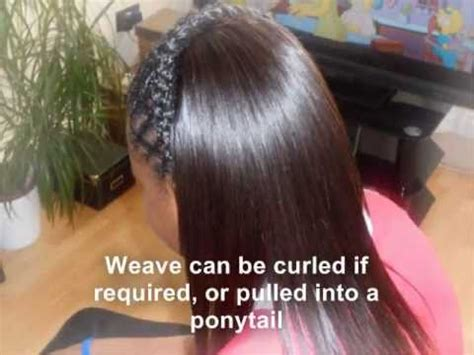 sow ins for 11 year olds partial sew in weave tutorial with diagonal braiding youtube