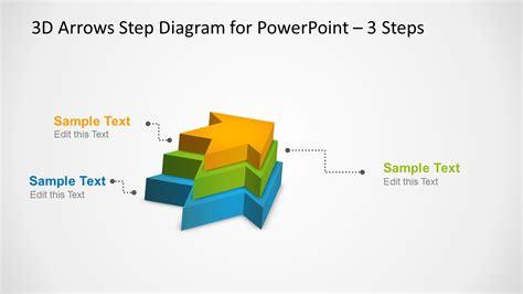 4 step 3d circular diagram template for powerpoint 3d arrows step diagram template for powerpoint slidemodel