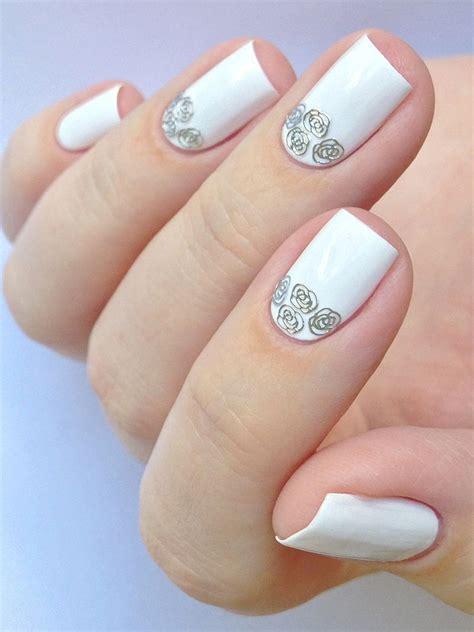 35 Glamorous Wedding Nail Art Ideas for 2019   Best Bridal