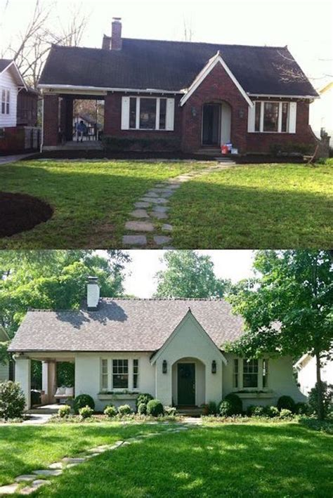 brick house renovation before and after curb appeal 8 stunning before after home updates
