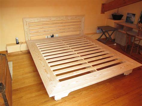 fabriquer lit bois massif