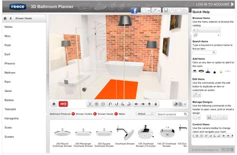 online bathroom design software new easy online 3d bathroom planner lets you design