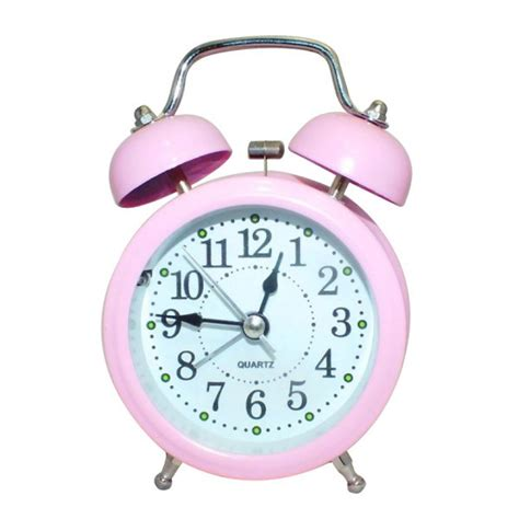 pink color alarm clock with bell shopping in nepal bhakari