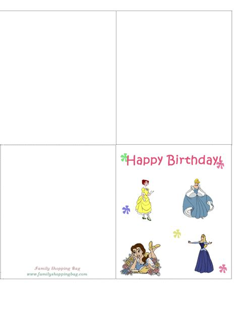 printable birthday cards disney free birthday cards printable