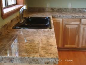 Tile Kitchen Countertops Counter Tops Thelivedinroom