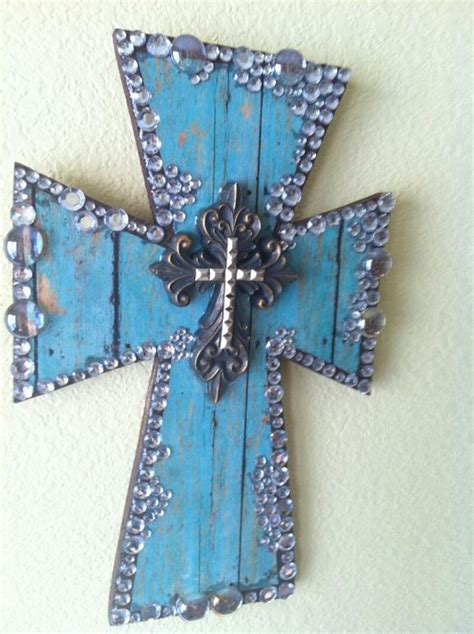 Handmade Crosses - handmade blue wooden cross by thegivingbutterfly on etsy