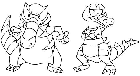 pokemon coloring pages krookodile krokorok and krookodile base 2 by king icarus on deviantart