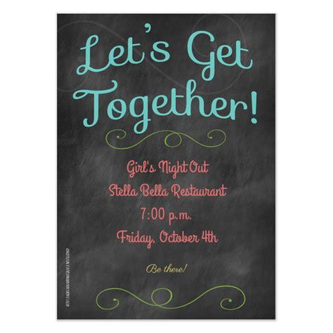 Get Together Invitation Template let s get together invitations cards on pingg