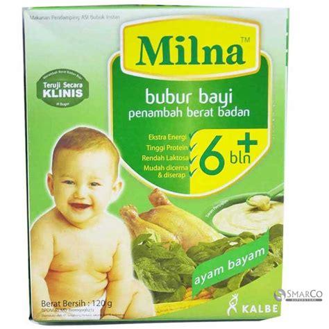 Frozen Yogurt My Healthy Khusus Grosir detil produk milna bubur khusus 6 bln ayam bayam kotak 120 gr 1014010030017 8992802516075