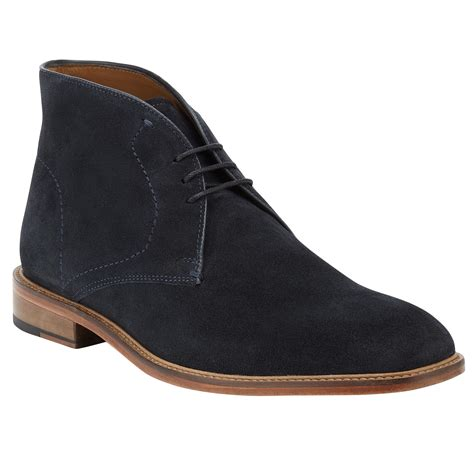mens boots lewis lewis chumbley suede chukka boots in blue for