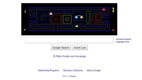 google themes pacman get into the groove with google doodle technology tech
