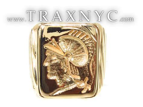 mens custom jewelry gladiator ring mens style yellow gold 18k