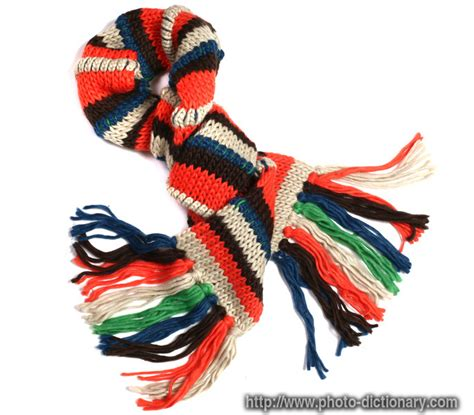 knit meaning knit scarf photo picture definition at photo dictionary