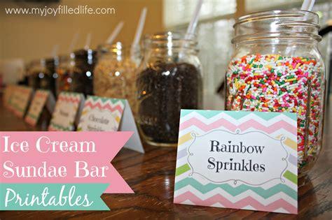 toppings for ice cream sundae bar ice cream sundae bar printables my joy filled life