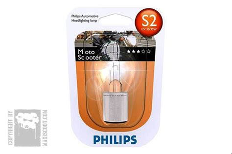 Lu Philips Vision oule s2 philips vision moto 12v 35w maxiscoot