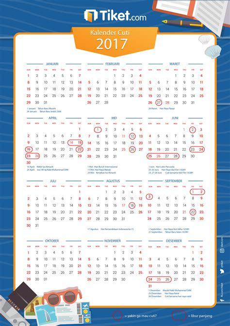 Kalender 2018 Tiket Kalender Cuti 2017 Sudah Terbit Tiket