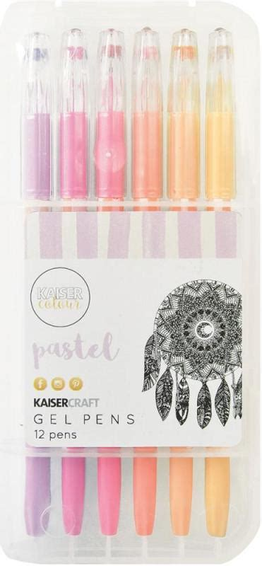 Set Of 12 Gel Pens kaisercraft gel pen box set of 12 pastel