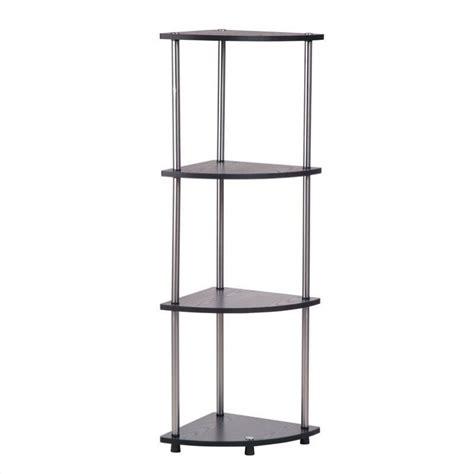 Corner Shelf Black by 4 Tier Corner Shelf In Black 111075