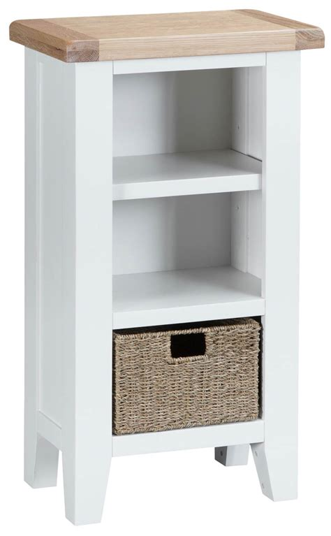 Woodbridge Small Narrow White Bookcase Oak World Small White Bookcases