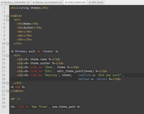 themes download code blocks rails textmate themes via astonj