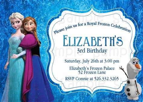 frozen themed birthday ecard fancy frozen invitations cards about your inspirations