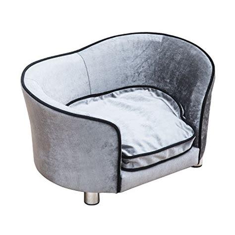 dog settee sofa pawhut pet sofa indoor dog cat puppy kitten mat cushion