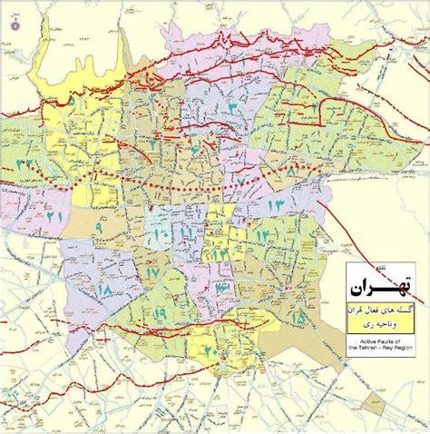 tehran map iranmap tehran map of earthquake lines