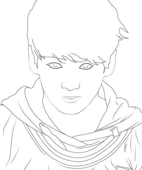 line art jungkook bts by rufatiani on deviantart