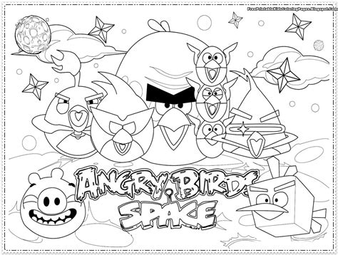 Angry Bird Space Coloring Pages angry birds coloring pages free printable coloring pages