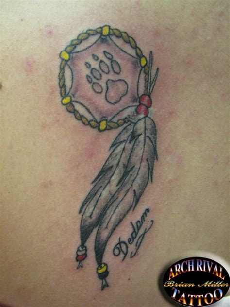 dream catcher tattoo with names in feathers tattoo ideas by sarah bryce