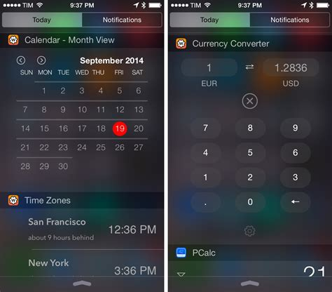 Calendar Widget Iphone Ios 8 Extensions And Widgets I M Trying This Weekend
