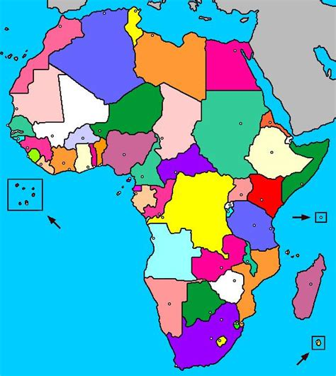 printable puzzle map of africa mapa interactivo de 193 frica pa 237 ses y capitales luventicus