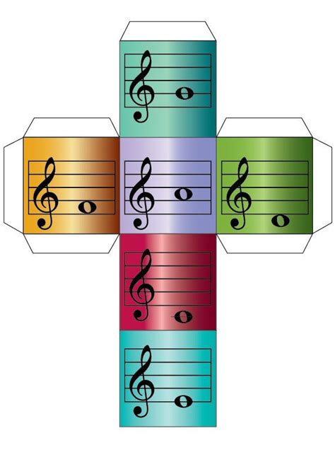printable alphabet dice treble and bass clef notes dice for music games alphabet