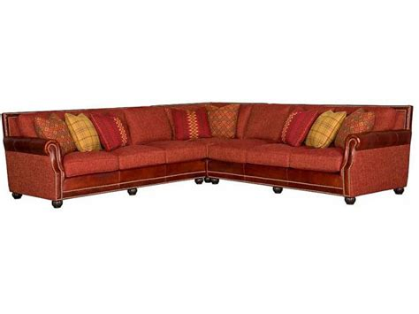 Leather And Cloth Sectional King Hickory Living Room Julianna Fabric Leather Sectional 3000 Sect Lf Furniture