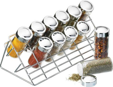 Herbs And Spices Holder Home Made Chrome Plated Spice Rack Set Spice Racks